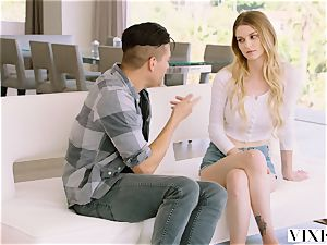 VIXEN warm blondie teenager Gets Caught hotwife On gauze
