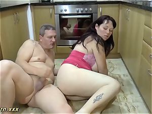 plumper doing footjob and extraordinary inhale